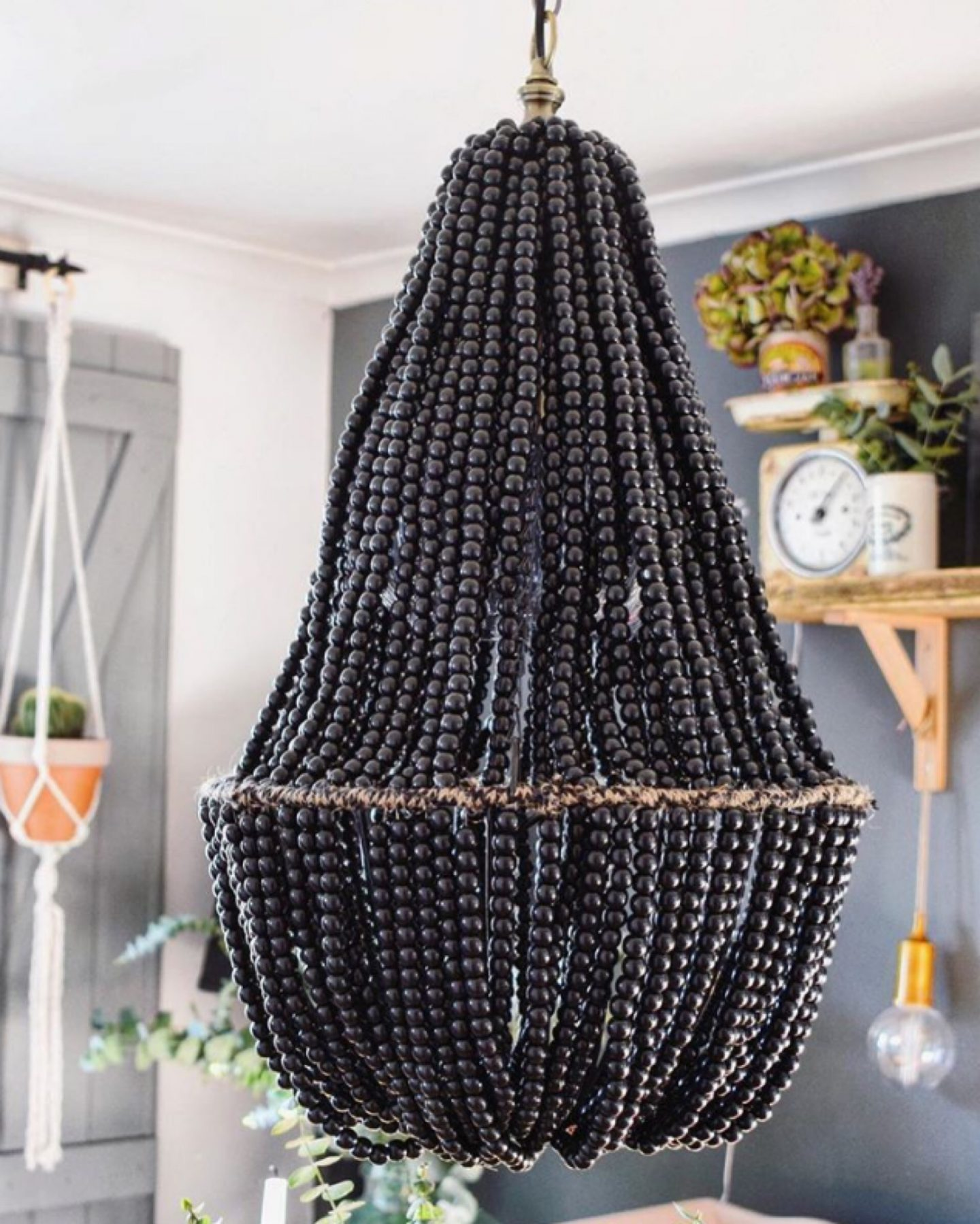 How to make a beaded chandelier…