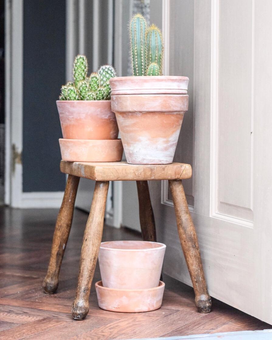 DIY aged terracotta pots…